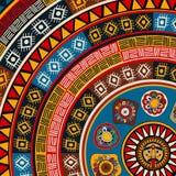 Mayan sun background Stock Image