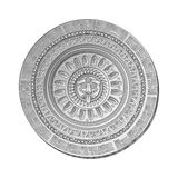 Mayan Sun stone symbol Stock Photos