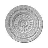 Mayan Sun stone symbol Stock Photos