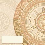 Mayan sun symbol card. Invitation, text card  template with mayan sun symbol Royalty Free Stock Photography