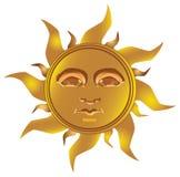 mayan sunvektor för incan maya stock illustrationer