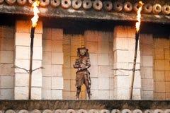 mayan tempel för guard till krigare Royaltyfria Foton