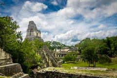 Mayan Tempel I Gran Jaguar bij het Nationale Park van Tikal - Guatemala stock foto