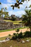 Mayan Tempel in Tulum, Mexico stock afbeelding