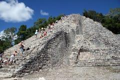 Mayan tempel van Coba stock foto's