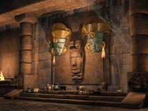 Mayan tempel van de fantasie Stock Afbeeldingen