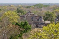 Mayan Tempel van Ekbalam stock foto's