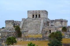 Mayan tempel van Tulum Royalty-vrije Stock Foto