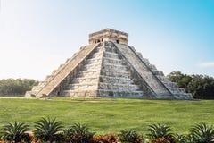 Mayan Tempelpiramide van Kukulkan - Chichen Itza, Yucatan, Mexico stock fotografie