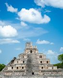 A Mayan temple at the archaeological site of Edzna in Campeche, stock photo