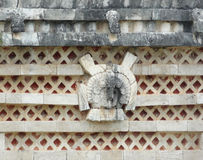 Mayan temple detail in Uxmal Stock Images