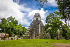 Mayan Temple I Gran Jaguar at Tikal National Park - Guatemala Stock Photo