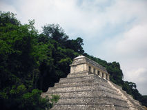 Mayan Temple of Inscriptions at Palenque Stock Photo