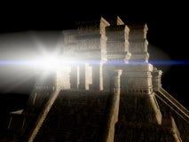 Mayan Temple at Night Stock Image