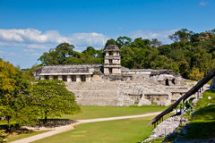Mayan Temple of Palenque Stock Photo