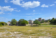 Mayan Temple In Tulum, Mexico Royalty Free Stock Photos