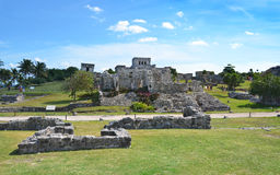 Mayan Temple In Tulum, Mexico Stock Image