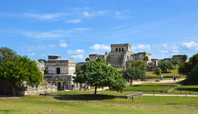 Mayan Temple In Tulum, Mexico Royalty Free Stock Photo