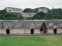 Mayan temple in Uxmal Stock Photos