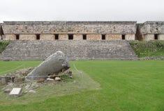 Mayan temple in Uxmal Stock Photo