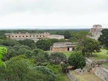 Mayan temple in Uxmal Royalty Free Stock Photos