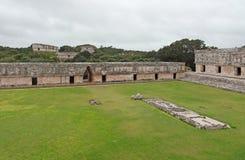 Mayan temple in Uxmal Stock Image