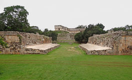 Mayan temple in Uxmal Stock Photos