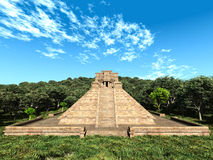 Mayan temple in the woods Stock Photography