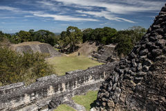 Mayan Temples in Forest. The ruins of a Mayan temples have been excavated in Xunantunich National Park, Belize. This beautiful park hold the remnants of a large Royalty Free Stock Image