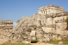 Mayan Temples at Tulum Royalty Free Stock Photo