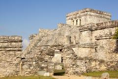 Mayan Temples at Tulum royalty free stock photo