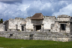 Mayan Temples at Tulum, Mexico Royalty Free Stock Photos