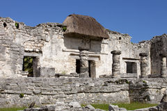 Mayan Temples at Tulum, Mexico Stock Photo