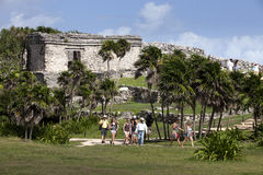 Mayan Temples at Tulum, Mexico Stock Images