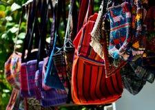 Mayan Textile Handbags Stock Image
