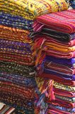 Mayan Textiles. In a stack sold in mexican market stock image