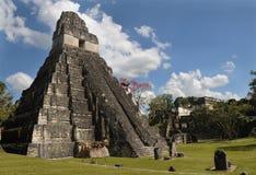 Mayan tikal ruins, guatemala. Ancient mayan ruins, peten basin, tikal, guatemala , latin america, old pyramids Royalty Free Stock Photography