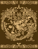 Mayan tribal elements Royalty Free Stock Images