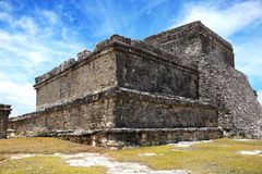 Mayan Tulum fördärvar på den yucatan halvön Arkivbilder