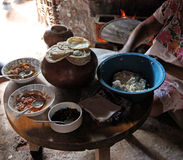 Mayan villagers meal Stock Images