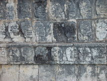 Mayan Wall of Skulls Stock Photo