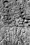 Mayan warrior carving. A Mayan warrior carving at Chichen Itza Mexico royalty free stock photography