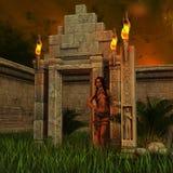 Mayan Warrior Stock Photography