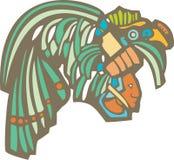 Mayan Warrior Head Royalty Free Stock Image