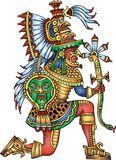 Mayan warrior isolated Stock Photo