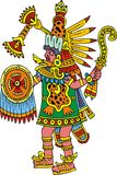 Mayan warrior isolated Royalty Free Stock Images