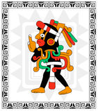 Mayan warrior on white Royalty Free Stock Photo