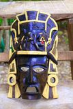Mayan wood mask with jaguar Yucatan Mexico Stock Photos