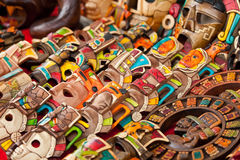 Mayan Wood Souvenirs Stock Photography