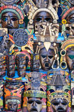 Mayan Wooden Masks Stock Photo